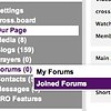 Where can I see the Forums that I posted in?