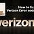 How to fix Verizon Error code 9004?