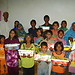 Kids of Sunday School with christmas Gifts