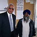 Dr Jesse Singh with the Priest of the temple