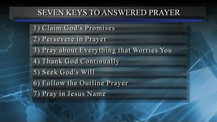 Seven Keys to Answered Prayer